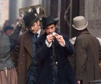 Sniffing around: Robert Downey Jr. leads the way, as Jude Law, playing Dr. Watson, follows in 'Sherlock Holmes.' | © 2009 VILLAGE ROADSHOW FILMS (BVI) LIMITED