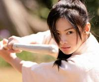 Worth the fight: Ito (Keiko Kitagawa) squares off against her physical and romantic match (left) in 'Hana no Ato.' | © 'HANA NO ATO' SEISAKU IINKAI