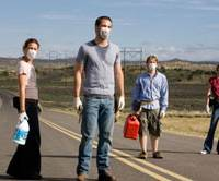 Last stand: From left, Bobby (Piper Perabo), Brian (Chris Pine), Danny (Lou Taylor Pucci), and Kate (Emily VanCamp) prepare to break a cardinal rule of viral survival.   © MMVIII BY PARAMOUNT VANTAGE, A DIVISION OF PARAMOUNT PICTURES CORPORATION ALL RIGHTS RESERVED.
