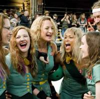 Derby days: A scene from 'Whip It,' actress Drew Barrymore's directorial debut, which stars Ellen Page (right) as a young Texan named Bliss who escapes her boring background and finds herself via the rough sport of roller derby. | PHOTOS © 2009 BABE RUTHLESS PRODUCTIONS, LLC (ALL RIGHTS RESERVED)