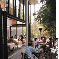 Park Side Cafe in Nakamachidai, Yokohama offers good food in a perfect summertime setting.