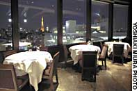 The dramatic and accomplished cuisine served at Olives in Roppongi Hills is well complemented by the panaromic view of the cityscape.