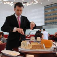 A slice above: Chef Tateru Yoshino's new location, Restaurant tateru yoshino Ginza, features contemporary French haute cuisine, including an impressive cheese trolley. | ROBBIE SWINNERTON PHOTOS