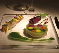 An exquisitely arranged appetizer plate