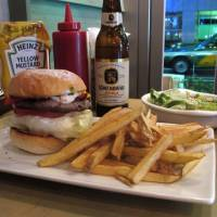 Spicy: The Cajun Lamb Burger at Eat, with a side order of fresh-made fries. | ROBBIE SWINNERTON PHOTOS