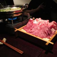 At Kamikozawa-tei, beef is the focus of the menu, including shabu-shabu and appetizers such as steak tartare and liver sashimi.  | ROBBIE SWINNERTON