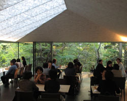 Artistic dining: NEZUCAFE, in the reopened Nezu Museum, offers light meals and drinks worthy of the beautiful setting. | ROBBIE SWINNERTON PHOTOS