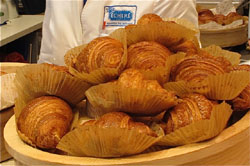 Freshly baked full-butter croissants at the Echire store in the Marunouchi Brick Square.