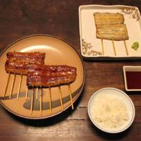 Dishes include grilled eel, both with and without tare sauce.