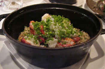 The rice is right: One of this month's specials at Casa Vinitalia is  riso pilaf  cooked with three types of crab.