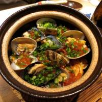 House special: The so-called Paella, a clay pot of seafood and rice.   ROBBIE SWINNERTON PHOTOS