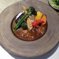 The excellent Chicken Curry with Farm Vegetables is reassuringly spicy.