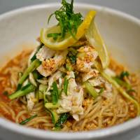 Using your noodle: Available only until the end of August, Spicy Chili Hiyashi Mazemen (above) is the top draw at the new ramen restaurant from New York-born Ivan Orkin | IVAN ORKIN,ROBBIE SWINNERTON PHOTOS