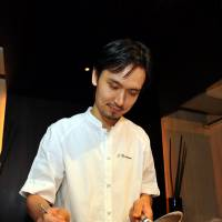 Saucery: Head chef Shinobu Namae places great emphasis on exquisite presentation.