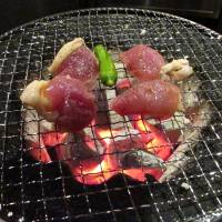 Game on: Wana in Uchi-Kanda specializes in gibier, the meat of wild game and fowl — such as the pheasant breast pictured here. Just like at a yakiniku restaurant, diners barbecue the meat themselves. | ROBBIE SWINNERTON