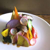 A seasonal mixed salad of organic vegetables. | ROBBIE SWINNERTON