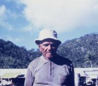 Lone voice: Alf Palmer, whose tribal name was Jinbilnggay, was the last fluent speaker of the Aboriginal language Warrongo. He is pictured here on the Warrongo people's reservation on Palm Island in Queensland, Australia, in July 1972. | TASAKU TSUNODA PHOTO