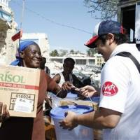 On the ground: AAR Japan is among the Japan-based nongovernmental organizations involved in relief efforts in quake-devastated Haiti. | COURTESY OF AAR JAPAN