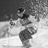 Aiko Uemura competes during her women's moguls final run on the Cypress Mountain at the Vancouver Olympics on Feb. 13. | AP PHOTO
