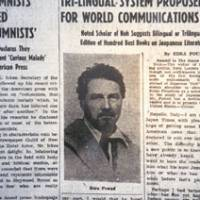 Foreign correspondent: Ezra Pound's first article for The Japan Times, on May 15, 1939.
