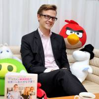 Better parenting: Mikko Koivumaa, press and culture counselor at the Finnish Embassy, talks about his book at the embassy in Minato Ward, Tokyo. | YOSHIAKI MIURA
