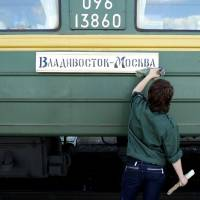 In training: The railway between Vladivostok and Moscow was constructed from 1891 to 1916. | LASSE RAHBEK PETERSEN