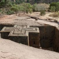 Deep faith: Bet Giyorgis (the Church of St. George) at Lalibela, which was cut out of the bedrock by hammer and chisel. | LESLEY DOWNER PHOTO