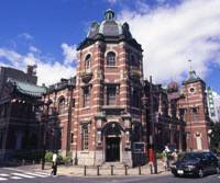 Business as usual: The city's imposing Bank of Iwate building, which dates from 1911.
