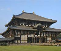 Though only two-thirds the size it once was, the Great Hall of Todaiji is still the world's largest wooden building.
