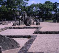 Nature nurtured: Every angle at Kishiwada Castle's famed garden reveals a different internal design combining natural stone formations and cement-sealed lines. However, the designer, Mirei Shigemori, basically aimed to evoke the original fortification's walls.   STEPHEN MANSFIELD PHOTOS