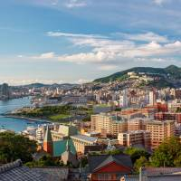 Beautiful bay: Nagasaki and its harbor as seen from the vantage point of Glover Garden. | ALON ADIKA
