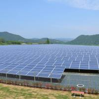Solar boom: A recent report by a U.S. research firm says Japan is expected to become the world's largest solar energy market this year, with the installation of new solar power systems, such as these installed by the Kanagawa Prefectural Government in the town of Aikawa, more than doubling capacity. | KYODO
