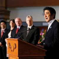 Pitch to G-8 colleagues leaves Abe in a bind
