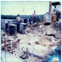 Deep deception: The worksite where Kris Roberts unearthed over 100 leaking barrels is seen in a photo taken in summer 1981.   KRIS ROBERTS