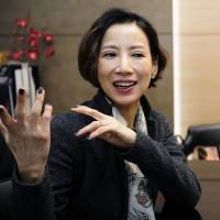 The right moves: Choi Tae-ji, the artistic director of the Korea National Ballet, is interviewed at the ballet company in Seoul in February. | KYODO