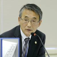 Safety first: Nuclear Regulation Authority Chairman Shunichi Tanaka speaks at an NRA meeting Wednesday in Tokyo. | KYODO
