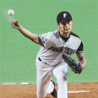 Times gone by: Yu Darvish had 1,250 strikouts in seven seasons with the Hokkaido Nippon Ham Fighters. | KYODO