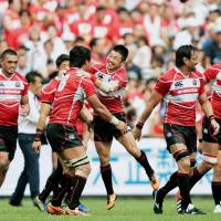 Japan rugby squad trounces undermanned Wales