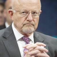 Offended: Director of National Intelligence James Clapper testifies on Capitol Hill in April. | AFP-JIJI