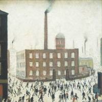 An eye for everyday life: L.S. Lowry is best known for his paintings of northern England's industrial landscapes such as 'At the Factory Gates.' | BLOOMBERG