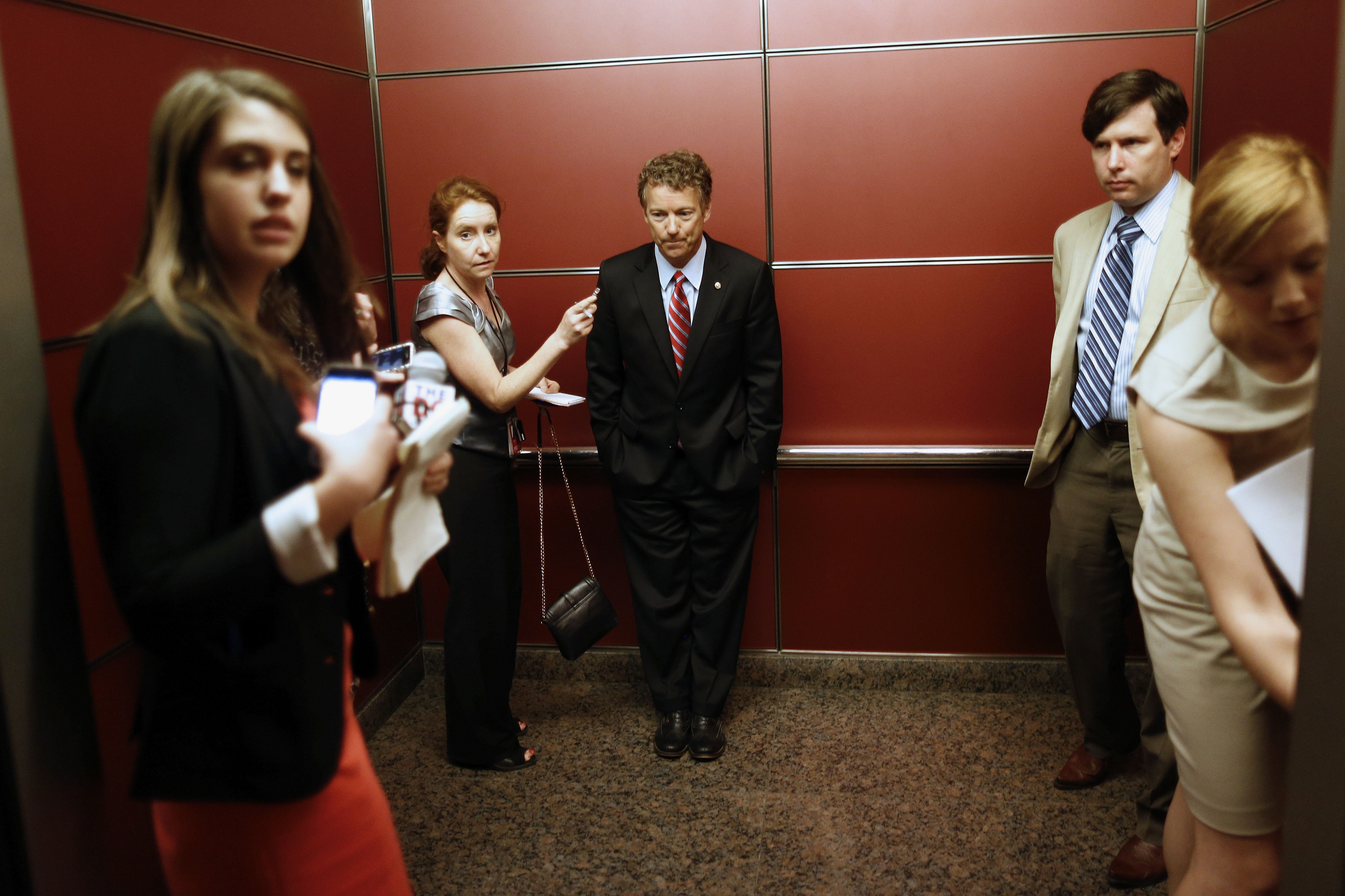 is rand paul going mainstream or is mainstream going rand paul rand paul rides in an elevator