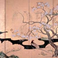 Natural selections: 'Birds and Flowers of Spring and Summer,' one of a pair of six-fold screens by Kano Eino with various symbols of nature (Edo Period, 1603-1867) | SUNTORY MUSEUM OF ART; © KEIZO KIOKU PHOTO