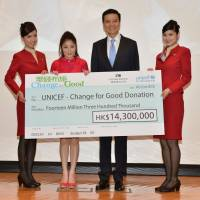 American Airlines celebrity poll; Cathay's Change for Good results; Jetstar available at Lawson