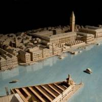 Waterside cities: A model (below) for Tadao Ando's Nakanoshima Project II in Osaka, part of a plan to redevelop the riverside and plant 3,000 cherry trees. Above: Ando's renovation plan for the Punta della Dogana in Venice | SUNTORY MUSEUM TEMPOZAN