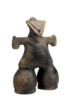 japanese dogu art history of the Early japan until 710  history of japan - early japan until 710  aomori city a distinctive goggle-eyed figurine known as dogu the original is on display at .