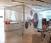 Art notes: As a center piece to the MoMA Design Store in Omotesando, the 'Detour' tunnel houses 50 Moleskine notebooks showcasing the imaginations of architects, designers, writers, directors and artists.   COURTESY OF MOLESKINE