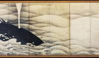 Sovereigns of land and sea: 'Elephant and Whale Screens' (1795), a pair of six-panel screens, ink on paper, Ito Jakuchu. | COURTESY OF THE MIHO MUSEUM