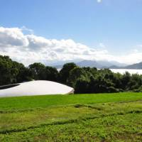 Dreamy landscapes: The droplet-shaped Teshima Art Museum, a collaboration between architect Ryue Nishizawa and artist Rei Naito, takes shape amid rice fields high above the Inland Sea. | JULIAN WORRALL PHOTO