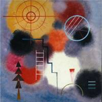 Abstract expression: 'Ladder Form (on Patches)' by Wassily Kandinsky (1929) | THE KUNSTMUSEUM WINTERTHUR, COURTESY OF THE SETAGAYA ART MUSEUM