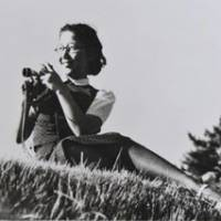Tsuneko Sasamoto behind the camera in 1940. | COURTESY OF TSUNEKO SASAMOTO